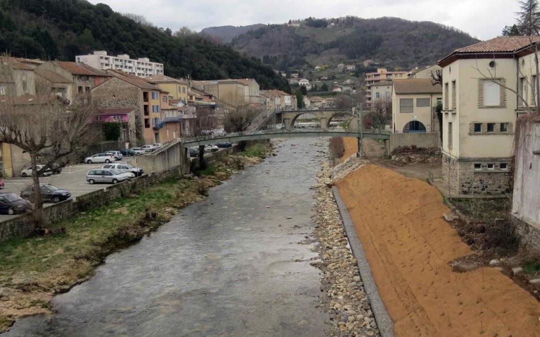 Stabilisation de la berge de la Volane – Fin du chantier