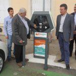 Inauguration de la borne de recharge pour véhicules électriques et hybrides