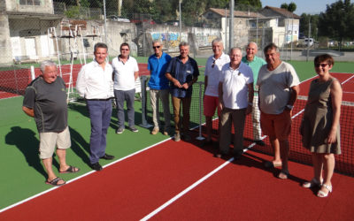 Réfection des courts de tennis du parc Astier
