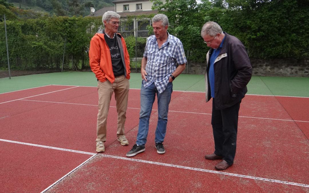 Réfection des courts de tennis du parc Astier