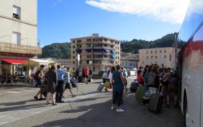 Départ pour le premier camp estival 2018 de Vals-les-Bains