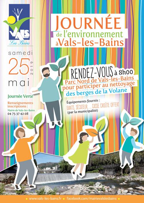 Affiche journée de l'environnement Vals-les-Bains