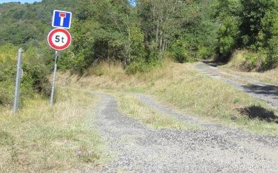 Rénovation d'une partie de la route communale desservant La Tine