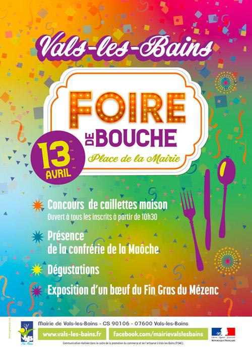 Affiche Foire de bouche Vals-les-Bains