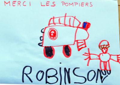 Merci à Robinson - 5 ans - Pour les Pompiers de Vals
