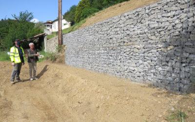 La Tine – Construction d'un mur de soutènement