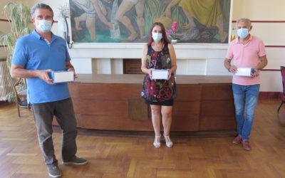 Remise de masques aux artisans et commerçants valsois