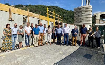 Visite du chantier en cours du Gymnase Municipal
